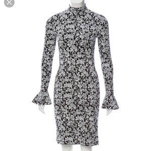 Michael Kors Stretch-Knit Flare Cuff Dress